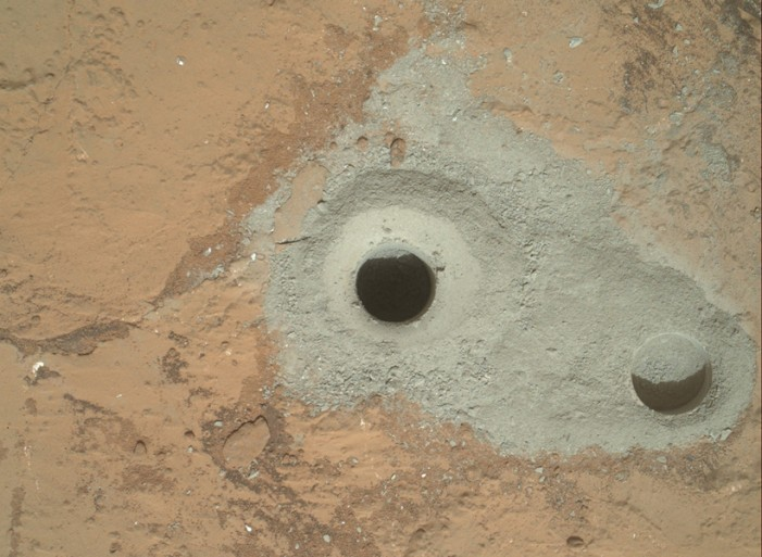 NASA Robot Curiosity starts drilling on Mars