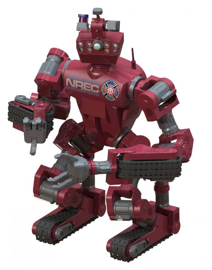 CHIMP getting ready for Robotics Challenge