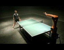 Robot to challenge human champion in table tennis