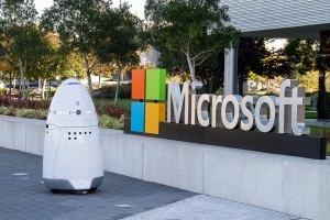 Knightscope Security Robots patrolling Microsoft Campus