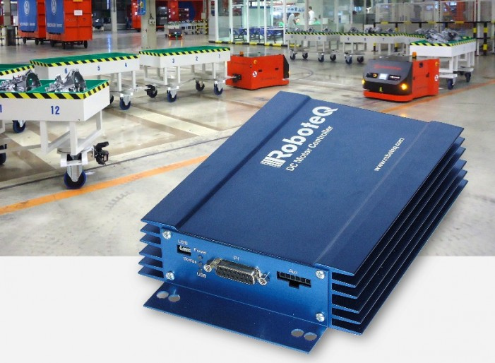 Smart Motor Controller for Automated Guided Vehicles by Roboteq