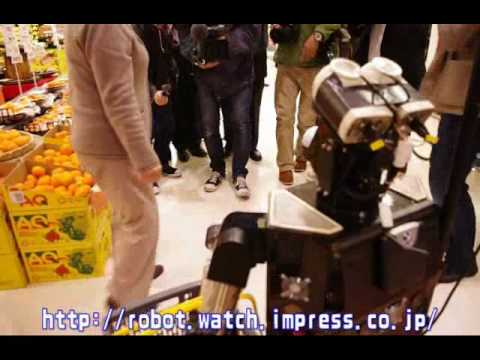 Japanese robot helps at supermarket