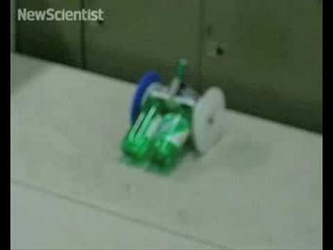 Jumping two wheeled robot
