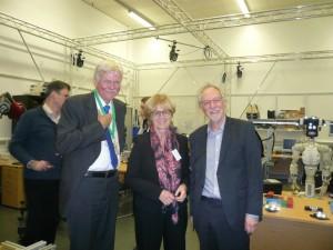 Photo (from left to right): Uwe Haass (euRobotics), MEP Mady Delvaux, Chris Melhuish (Bristol Robotics Laboratory)