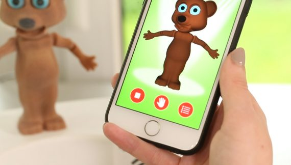 Cellphone controlled Robot Bear