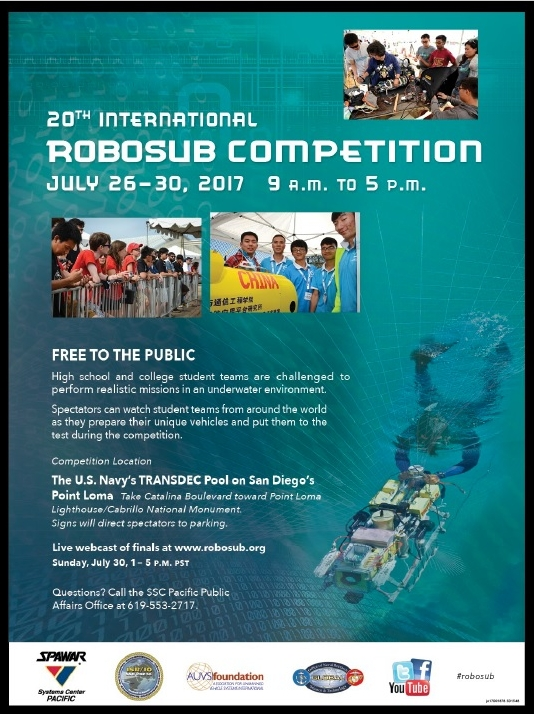U.S. Navy hosts international student robotic submarine competition