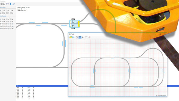 Simulator for Design of Magnetic Guided Automated Guided Robotic Vehicles