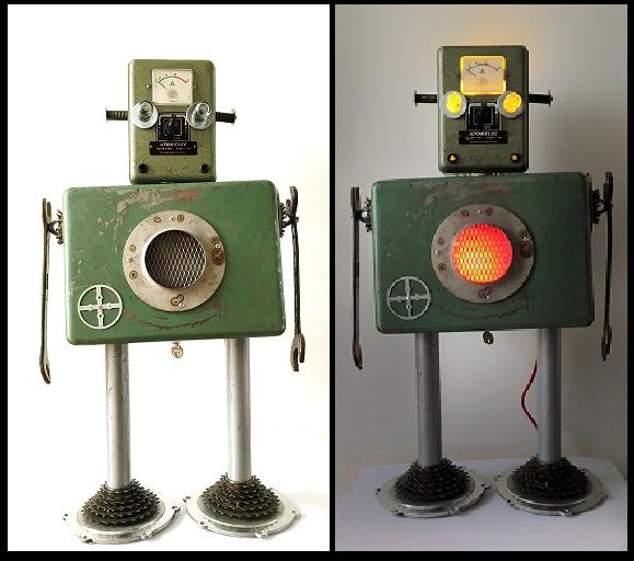 Robots from Scrap Metal Parts